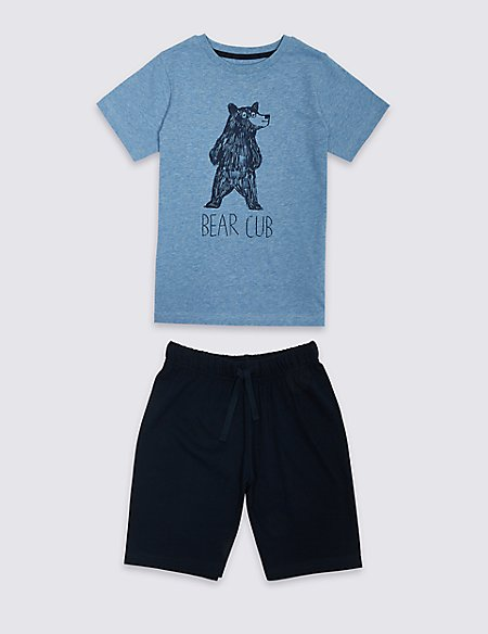 Pure Cotton Shorts Set (1-16 Years)