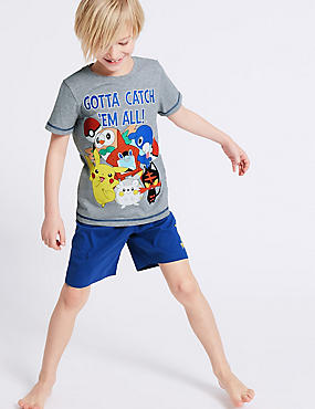 Pokemon™ Print Short Pyjamas (5-14 Years)