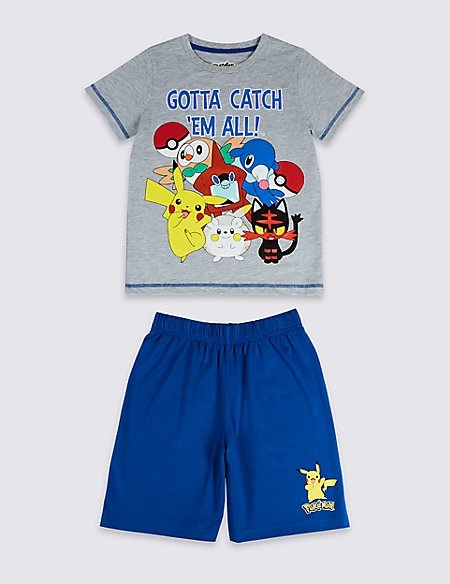 Pokemon™ Print Short Pyjamas (5-14 Years)