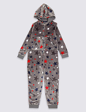 All Over Star Hooded Onesie (1-16 Years)
