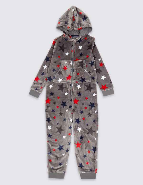 All Over Star Hooded Onesie (1-16 Years) ed011662e
