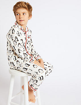Pure Cotton Penguin Pyjamas (1-16 Years)