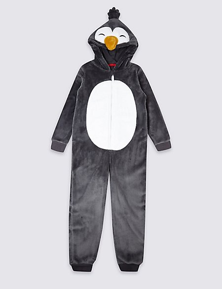 Hooded Penguin Onesie (1-16 Years)