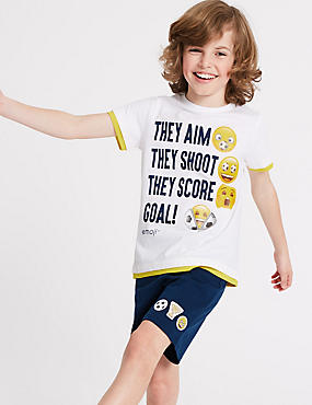 Emoji™ Pure Cotton Pyjamas (7-16 Years)