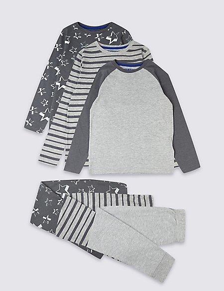 3 Pack Pyjamas (3-16 Years)