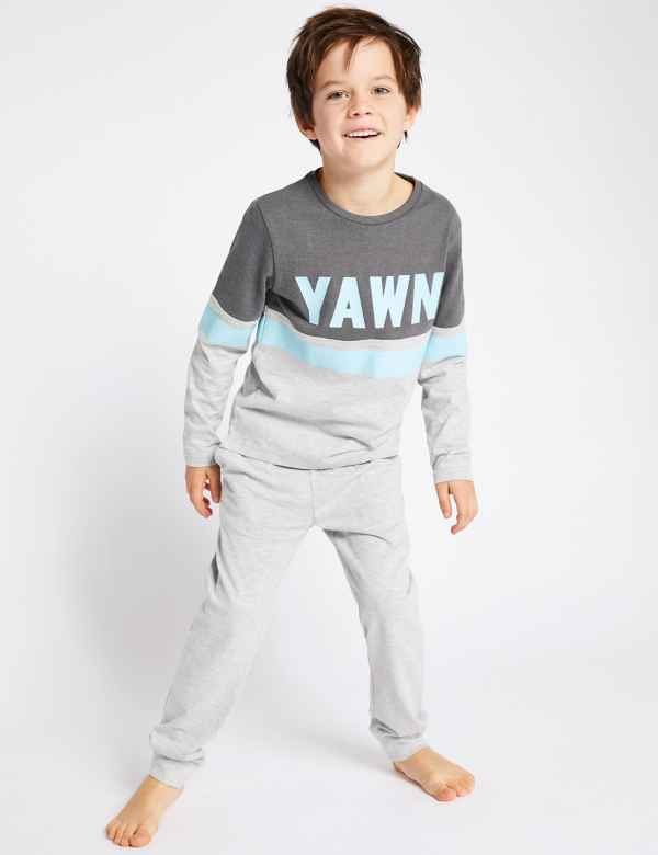 9f3b56b837 Cotton Rich Lounge Pyjamas (3-16 Years)