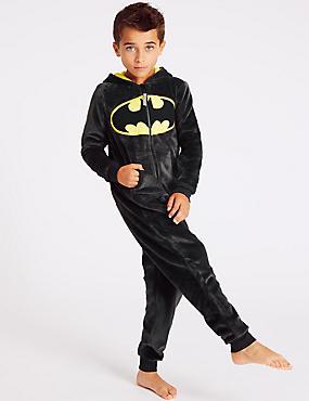 Batman™ Hooded Onesie (3-16 Years), DARK GREY MIX, catlanding