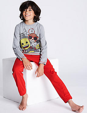 Emoji™ Pyjamas  (7-16 Years), RED MIX, catlanding