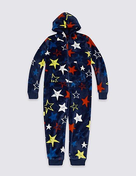Hooded Star Print Onesie (1-16 Years)