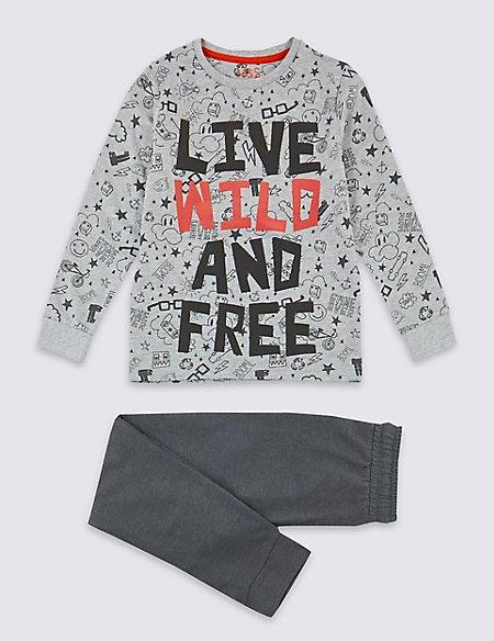 Cotton Rich Live Wild Pyjamas (3-16 Years)