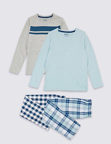 2 Pack Checked Pyjamas (3-16 Years)
