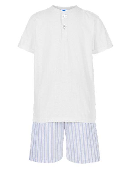 Pure Cotton Striped Short Pyjamas
