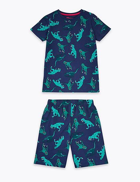 Cotton Rich Dinosaur Short Pyjama Set (7-16 Years)