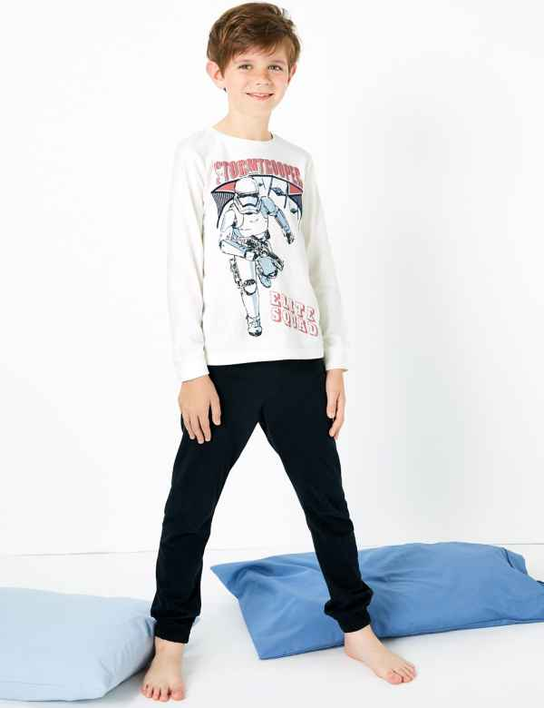 clp60280284: Star Wars™ Stormtrooper Print Pyjama Set (5-14 Years)