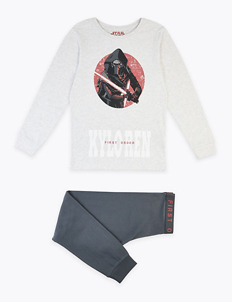 Cotton Star Wars™ Kylo Ren Print Pyjama Set (5-14 Years)