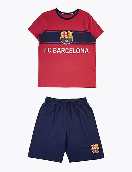 Cotton FC Barcelona™ Pyjama Set (3-16 Years)