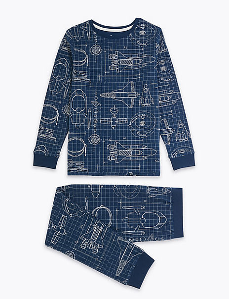 Rocket Relaxed Fit Pyjama Set (7-16 Years)