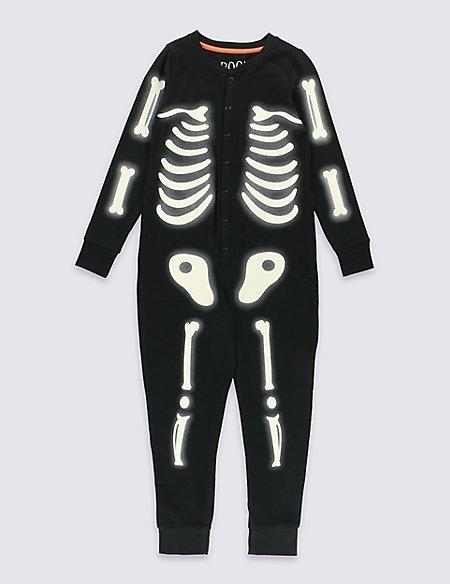 Long Sleeve Skeleton Onesie (1-10 Years)