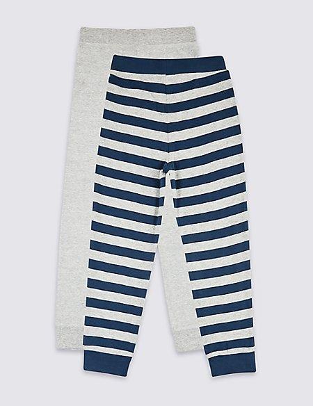 2 Pack Pyjama Bottoms (3-16 Years)