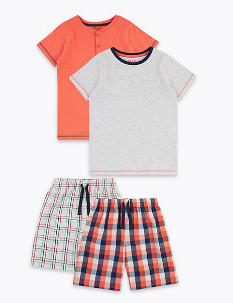 2 Pack Cotton Rich Checked Pyjama Sets (6-16 Yrs)