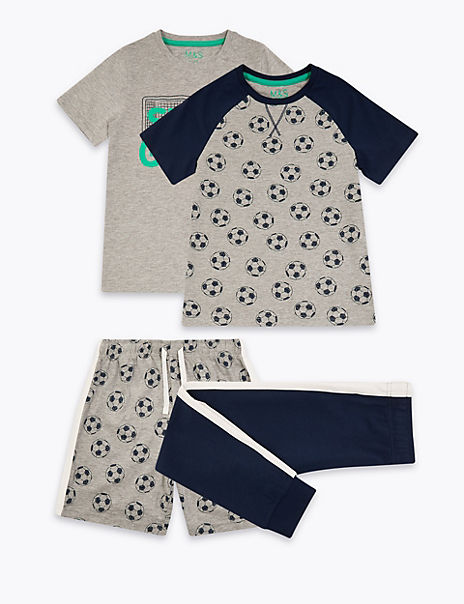 2 Pack Football Print Pyjama Sets (6-16 Years)
