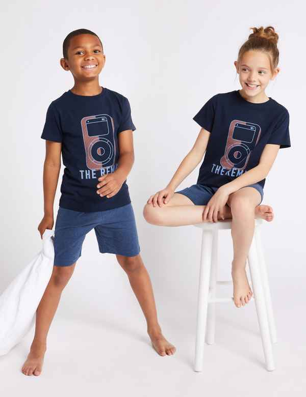 65898be05 Pure Cotton Short Pyjamas (1-16 Years)