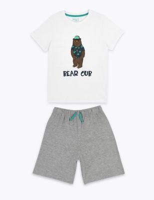 Cotton Bear Cub Short Pyjama Set (3-16 Yrs)