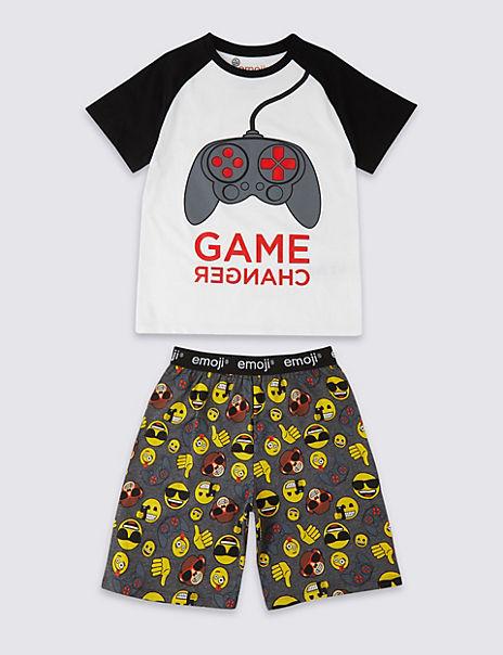 Emoji™ Pure Cotton Short Pyjamas (7-16 Years)