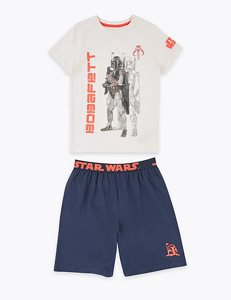 Pure Cotton Star Wars™ Short Pyjama Set (5-14 Yrs)