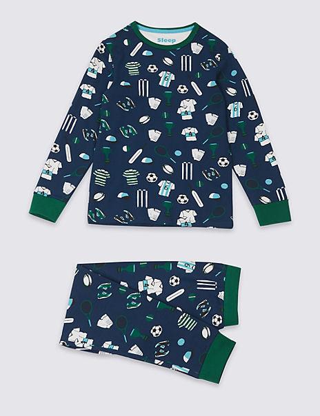 Printed Pyjamas with Stretch (3-16 Years)
