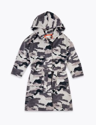 Fleece Camouflage Dressing Gown (6-16 Yrs)