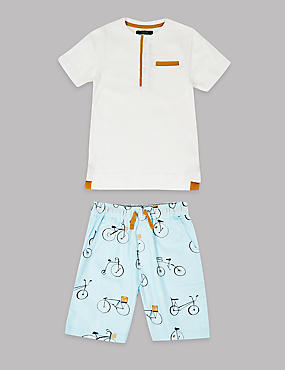 Pure Cotton Short Pyjamas (1-16 Years)