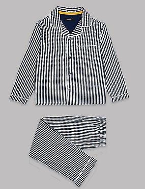 Pure Cotton Gingham Checked Pyjamas (1-16 Years)