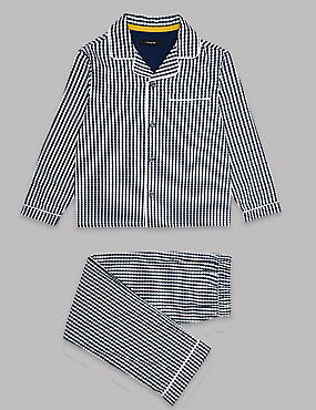 Pure Cotton Gingham Checked Pyjama (1-16 Years)