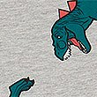 Cotton Rich Dinosaur Short Pyjamas (3-16 Years) , GREY MIX, swatch