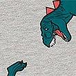 Katoenrijke pyjama met korte broek en dinosaurusmotief (3-16 jaar), GRIJS MIX, swatch