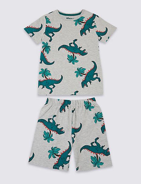 Dinosaur Print Short Pyjamas (3-16 Years)