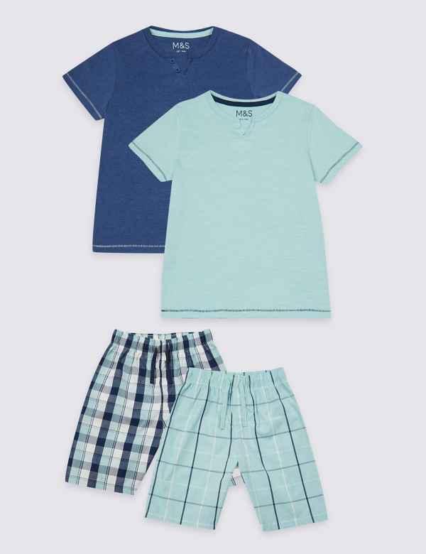 2 Pack Cotton Rich Short Pyjamas (3-16 Years) ca63d84ed