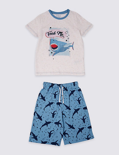 Shark Short Pyjamas (3-16 Years)