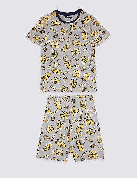 Cotton Rich Printed Pyjamas (3-16 Years)