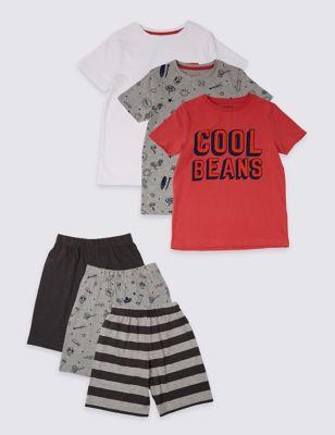 5e7c6fcffb624 3 Pack Short Pyjamas (3-16 Years) £22.00 - £28.00