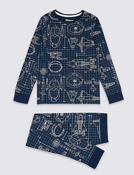 Rocket Skinny Fit Pyjama Set (3-16 Years)