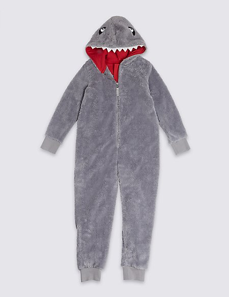 d7b9a6e0e51c Hooded Shark Onesie (1-16 Years)