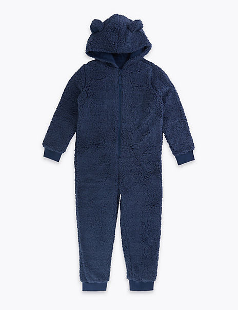 Fleece Bear Onesie (1-16 Years)