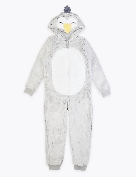 Fleece Penguin Onesie (1-16 Years)