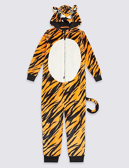 Tiger Hooded Onesie (1-16 Years)