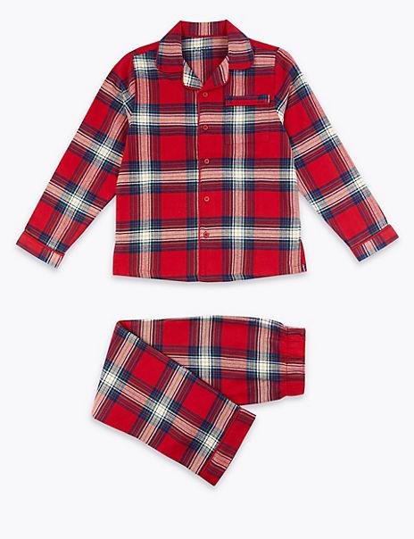 Cotton Checked Pyjama Set (1-16 Years)