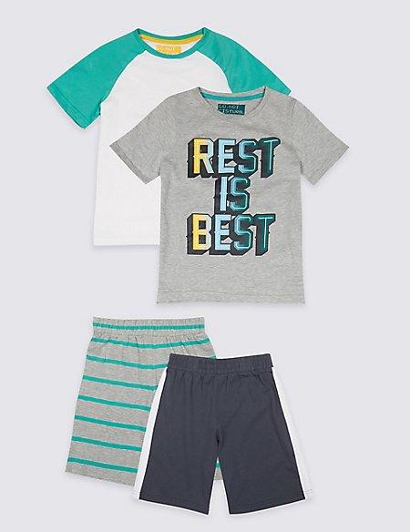 2 Pack Printed Pyjamas (3-16 Years)