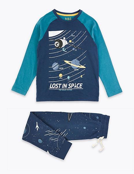 Space Print Pyjama Set (3-16 Years)