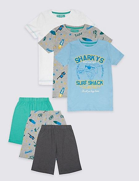 3 Pack Printed Pyjamas (3-16 Years)